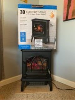 Infrared electric stove heater