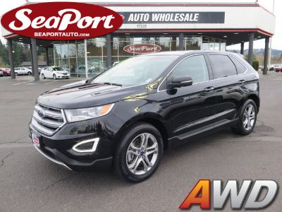 2016 Ford Edge Titanium AWD Crossover SUV Lea (Black)