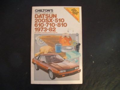 Sell CHILTON REPAIR TUNE UP MANUAL DATSUN 1973 1982 510 610 710 810 200SX CHILTONS motorcycle in Las Vegas, Nevada, US, for US $10.00