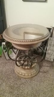 Pedestal for round table or use as side table