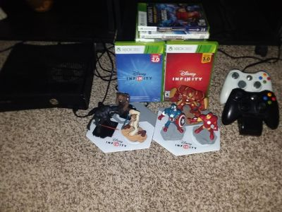 Xbox 360 with 15 games & 30+ figures