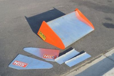 Purchase Rear Engine Dragster Wing Spoiler Drag Race Wing 42 Wide Don Olson Racing motorcycle in Franklin Park, Illinois, United States, for US $700.00