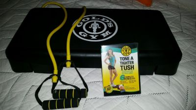golds gym stepper, band and dvd