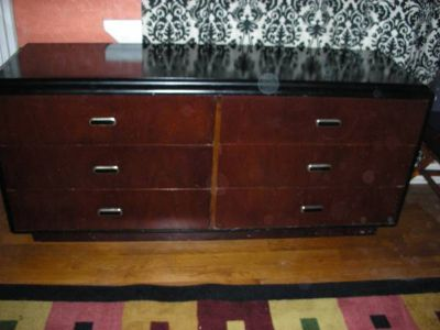 Black and Brown Dresser Chest of Drawers