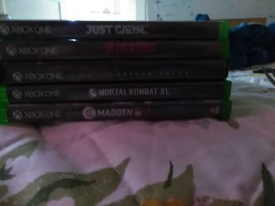 Xbox one games and also got the system probably 4 months old the system the games are new most of them