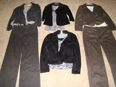 Business attire suits and suit jackets/blazers and tops for juniors