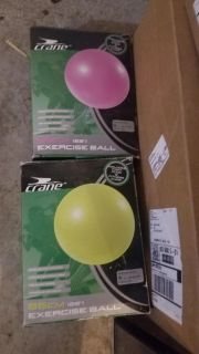 2 new in box exercise balls.
