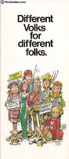 1977 8 Page Full Line Sales Brochure Bug Bus....