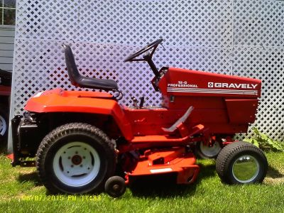 """Gravely G-20 w/50"""" mower deck and all wheel weights"""