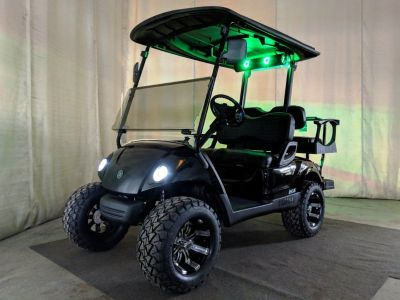 2014 Yamaha Gas EFI Golf Cart BAZOOKA SOUND BAR, DELUXE STREET READY, Tuxedo Black