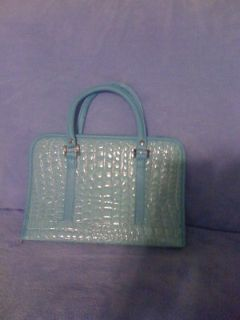 New,Bible Holder Croco light baby blue