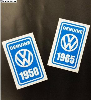 VW Year Window Decal 1950-1977