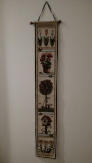 Garden Themed Embroidered Wall Hanging Runner