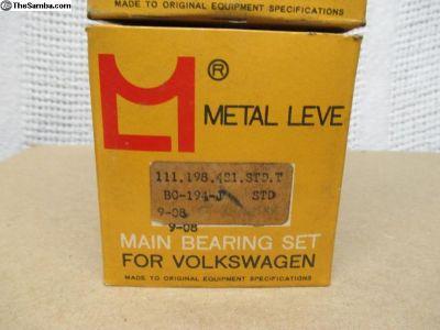 NOS Metal Leve Main Bearing Set- Std .040 Std
