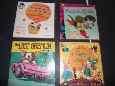 Kids 45 Record/Book Lot