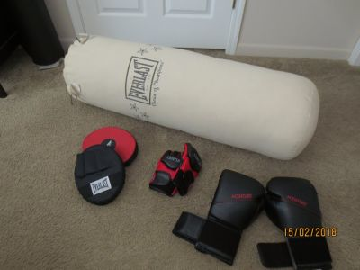 Bag, boxing gloves, mma gloves, punching mitts,