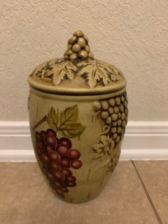 Wine Themed Cookie Jar