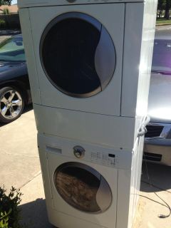 Nice ! Frigidaire Stacked Front Load Washer Dryer Set , Won't Last Long!