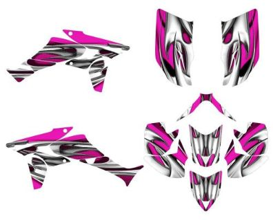 Sell TRX 450R graphics Honda 450 R custom wrap kit #1200 Hot Pink motorcycle in Temecula, California, United States, for US $159.00
