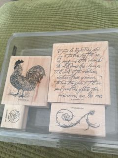 Rustic Rooster stamp set