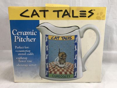 """Pitcher Cat Tales Happiness of Smiles 1998 Gary Patterson by Westwood Ceramic 6"""""""