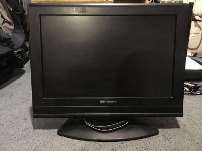 Black Emerson 19 inch tv with built in dvd player