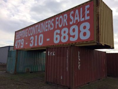 Shipping Container Actually in Fort Smith not 500 Miles away. LOCAL!