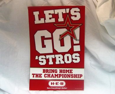 Collectible Houston Astros MLB 2005 Newspaper HEB Sign Publication Championship