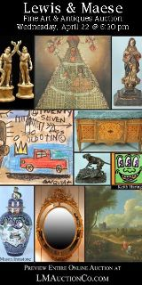 $1, Fine Art  Antiques Estate Auction April 22 at 630 PM