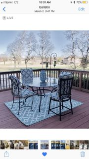 4 outdoor patio cushions! CUSHIONS ONLY