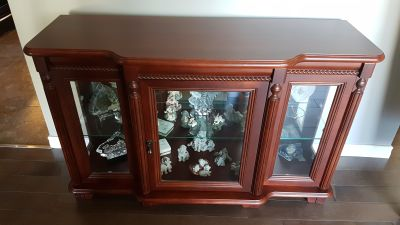 Bogdon and Gross Solid Cherry wood half curio cabinet