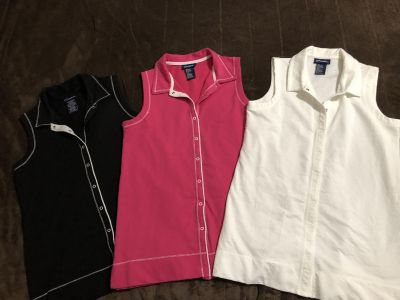Ladies Sleeveless Tops size M $4 each or ALL 3 for $10