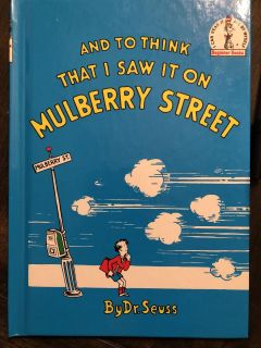 Dr Seuss Hardcover Book And To Think That I Saw It On Mulberry Street