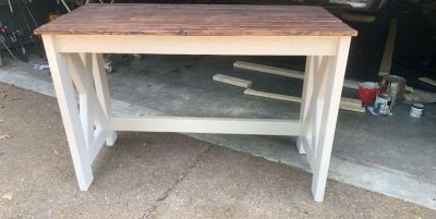 Custom wood desk
