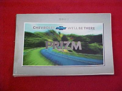 Find 2001 CHEVROLET PRIZM CAR ORIGINAL OWNERS MANUAL SERVICE GUIDE 01 GLOVEBOX BOOK motorcycle in Leo, Indiana, US, for US $12.99
