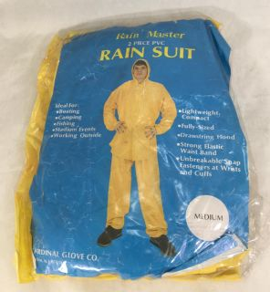 Rain Suit Size Med Yellow Outdoor Fishing Camping Unisex
