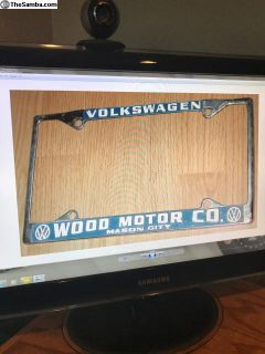 [WTB] Wood Motor company licence plate frame