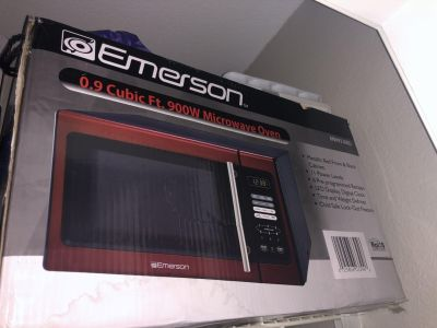 Red Emerson Microwave