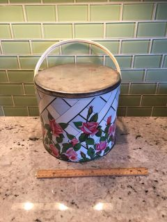 Large Vintage Metal Container