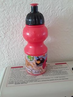 RED Angry Birds sports bottle