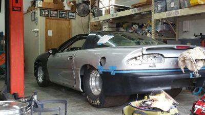 2002 Camaro Project 4link Round tube Backhalf big tire Tubul
