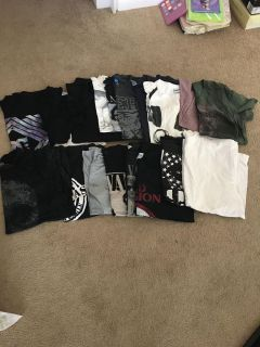 Men s large and xlarge tees and Band tees