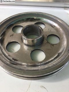 Aluminum crank pulley/ send Seal style