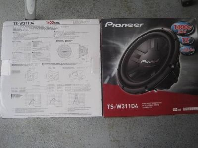 2) Pioneer 12 Inch 2800W Subwoofers Car Audio 4-Ohm DVC Subs Pair