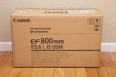 Canon EF 800mm f5.6L IS USM Lens  $3000