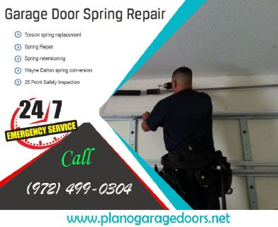 24/7 Available Service for Garage Door Spring Repair $25.95 |Plano Dallas, 75023 TX