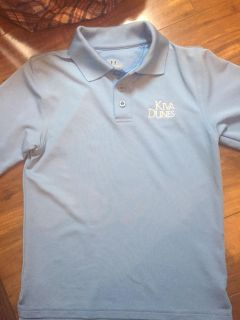 BOYS UNDER ARMOUR GOLF SHIRT FROM KIVA DUNES YOUTH SMALL EXCELLENT CONDITION