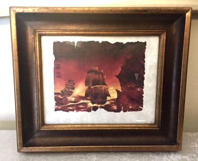 Pirates of the Caribbean Framed Lithograph Print