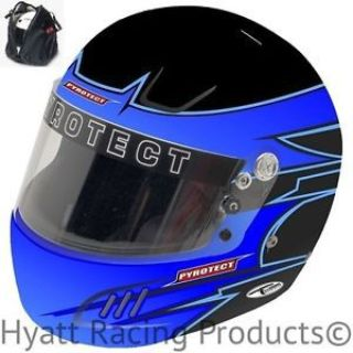 Sell Pyrotect Pro Airflow Auto Racing Helmet SA2015 - Blue Rebel Graphic motorcycle in Bend, Oregon, United States, for US $479.00