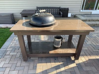 Custom Weber Grill Table